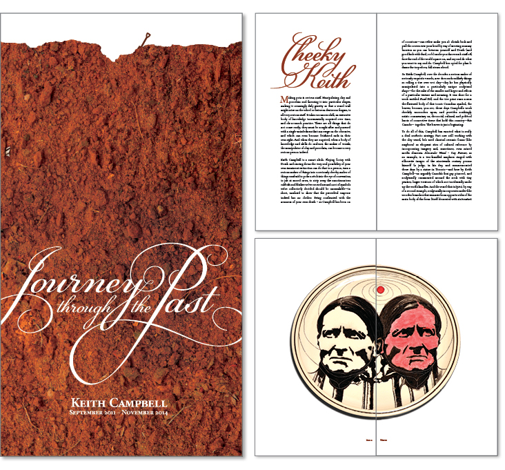 Keith Campbell � Journey Through the Past book design